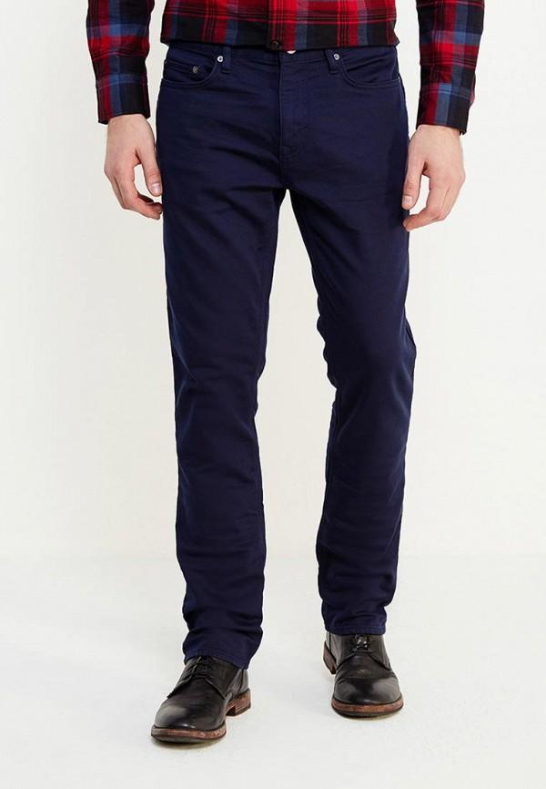 мужские зауженные брюки banana republic, синие