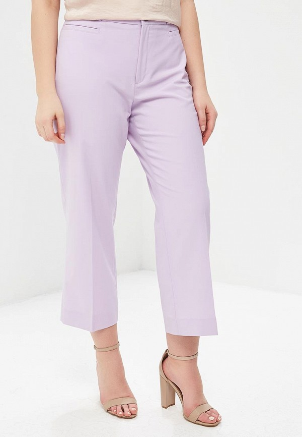 женские прямые брюки banana republic, фиолетовые