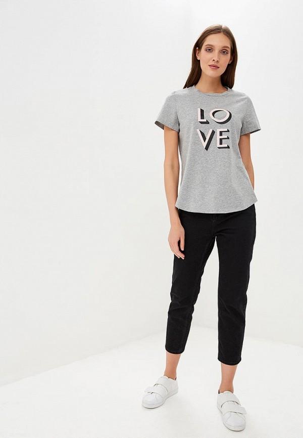 Фото 2 - женскую футболку Banana Republic серого цвета