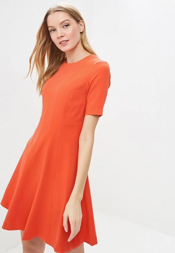 женское повседневные платье banana republic, оранжевое