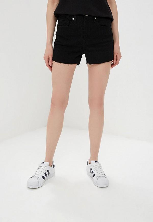 женские джинсовые шорты banana republic, черные