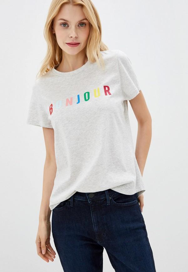 женская футболка banana republic, серая