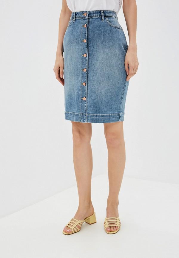 женская джинсовые юбка banana republic, голубая