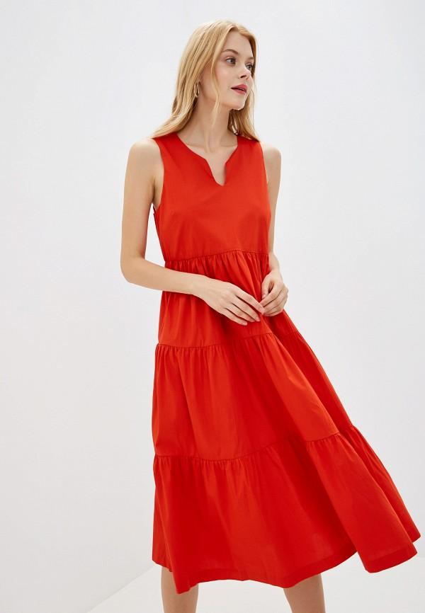 женское повседневные платье banana republic, красное