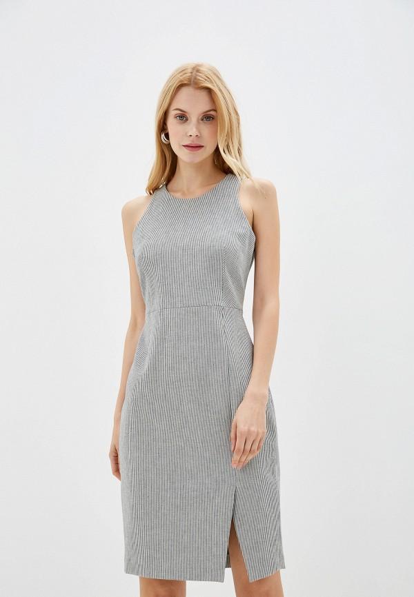 женское платье-футляр banana republic, серое