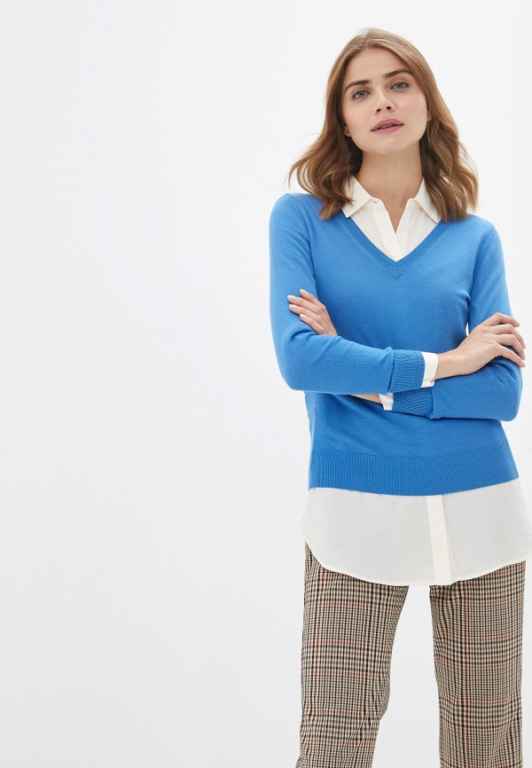 женский пуловер banana republic, голубой