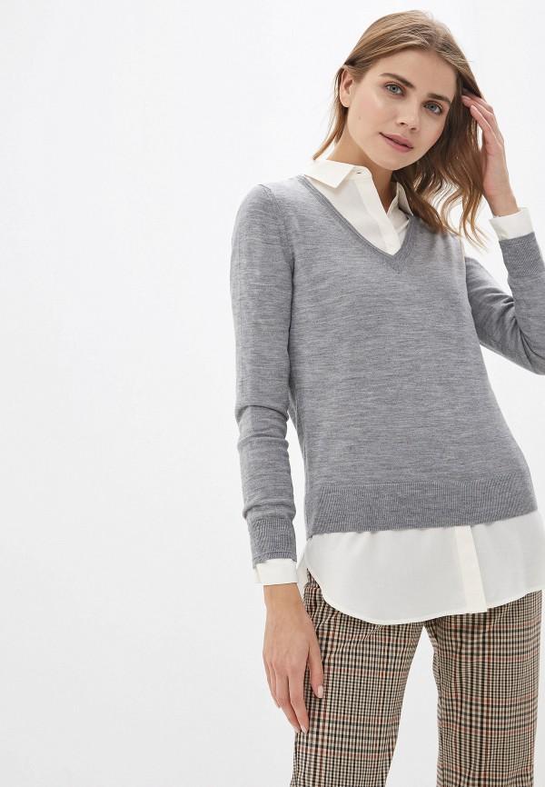 женский пуловер banana republic, серый