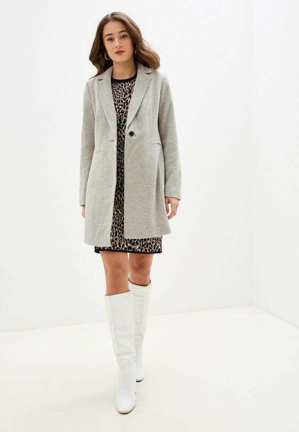 Фото 2 - женское пальто или плащ Banana Republic серого цвета