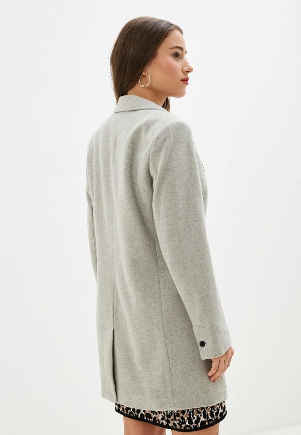 Фото 3 - женское пальто или плащ Banana Republic серого цвета