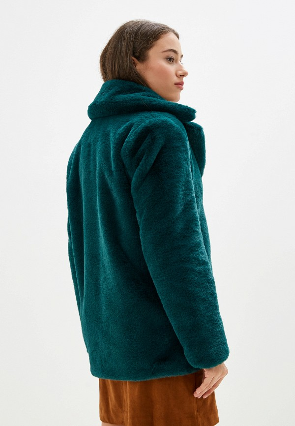 Фото 3 - женскую дублёнку или шубу Banana Republic зеленого цвета