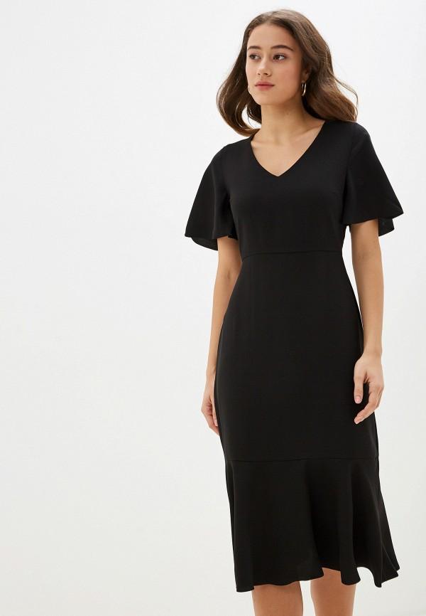 Фото 2 - женское платье Banana Republic черного цвета