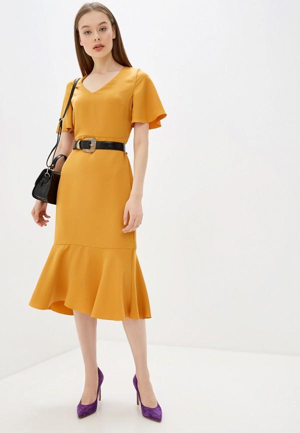 женское вечерние платье banana republic, желтое