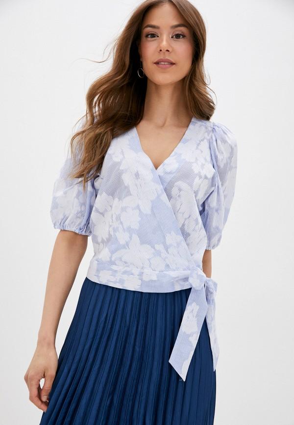 женская блузка banana republic, голубая