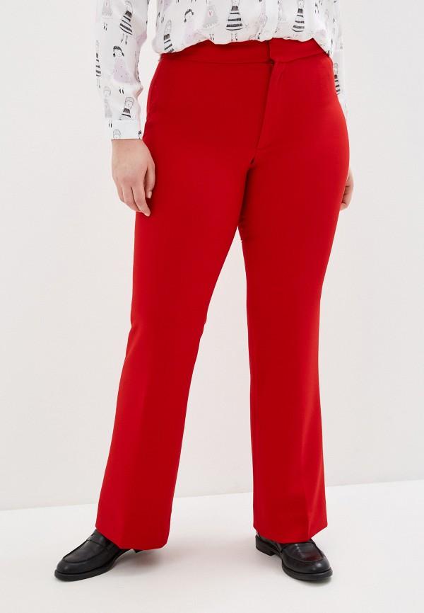 женские брюки клеш banana republic, красные