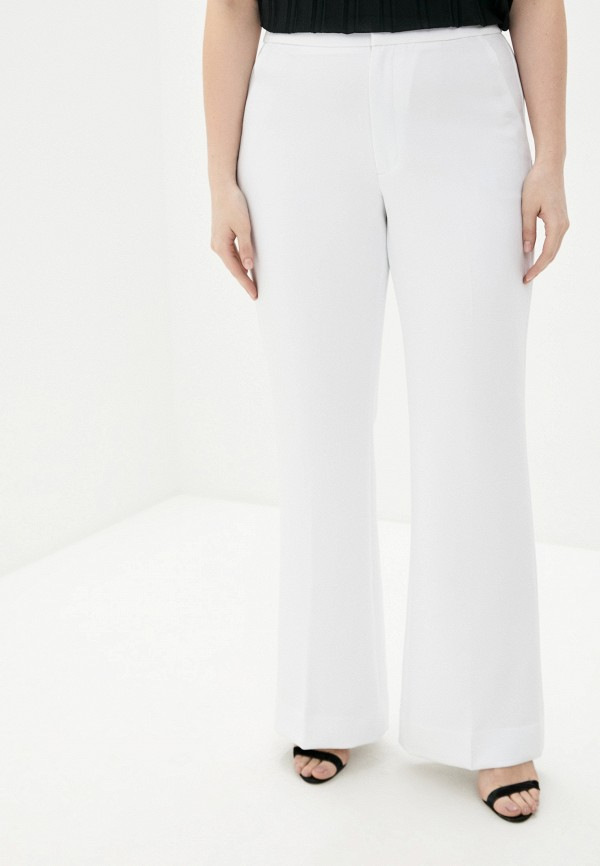 женские брюки клеш banana republic, белые