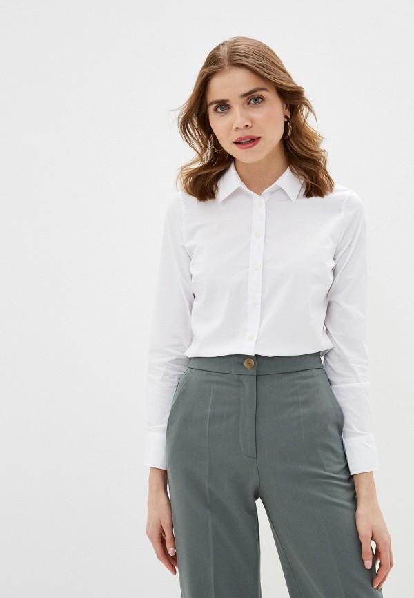 женская рубашка с длинным рукавом banana republic, белая