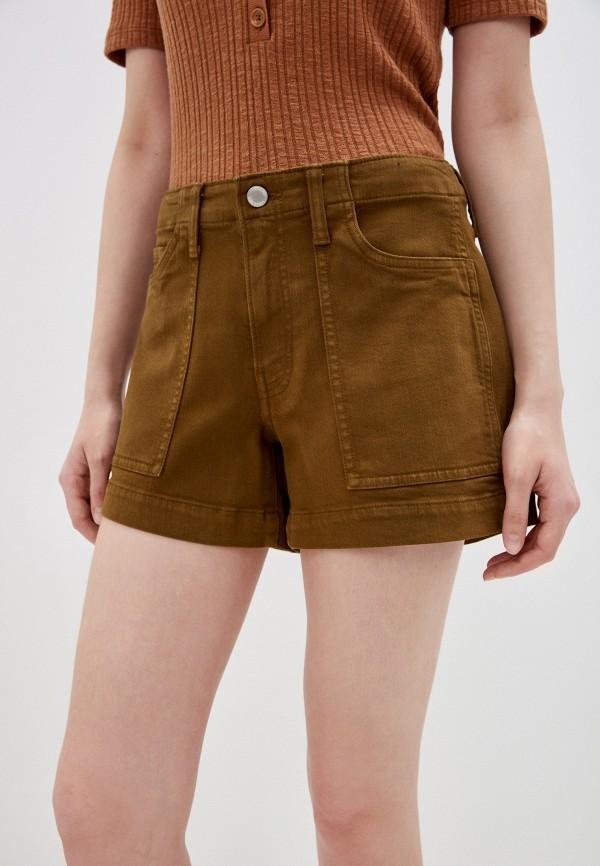 женские повседневные шорты banana republic, коричневые