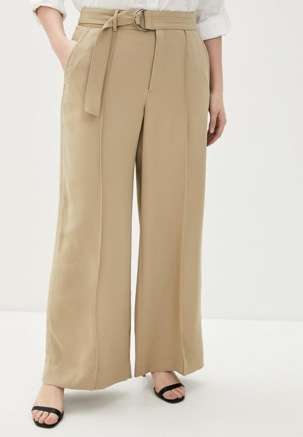 женские брюки клеш banana republic, бежевые