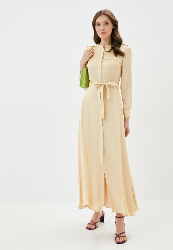 женское повседневные платье banana republic, бежевое
