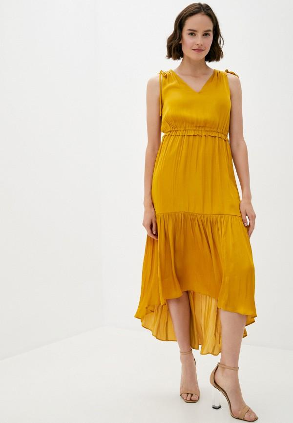 женское повседневные платье banana republic, желтое