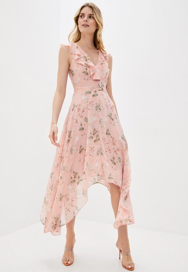 женское повседневные платье banana republic, розовое