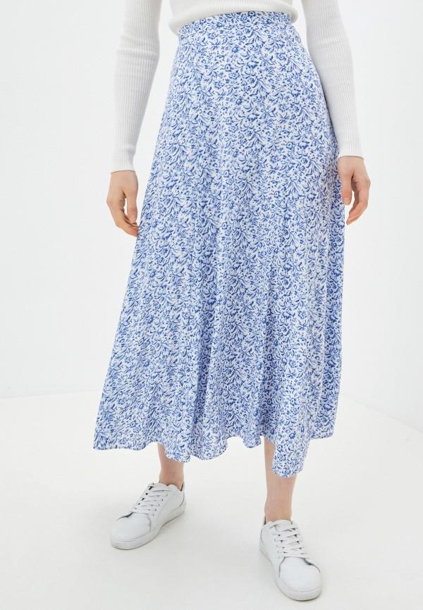 женская юбка banana republic, синяя