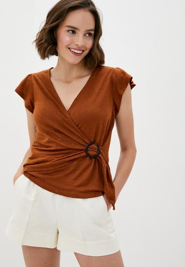 женская блузка banana republic, коричневая