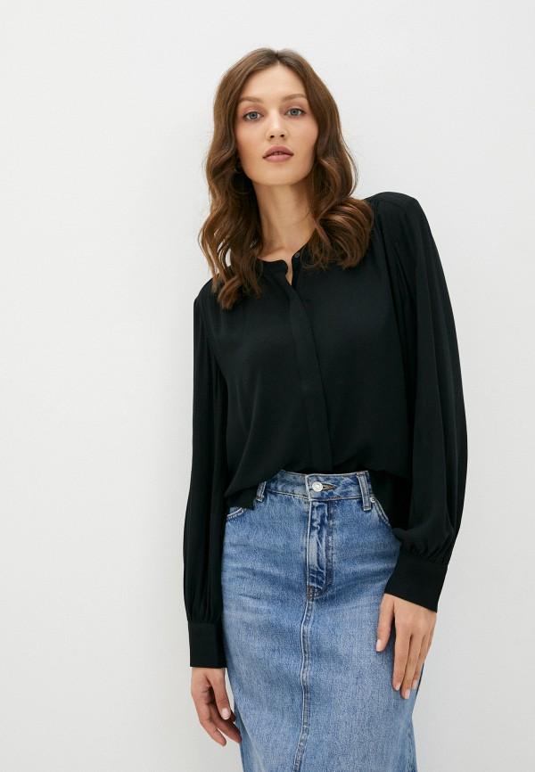 женская блузка с длинным рукавом banana republic, черная