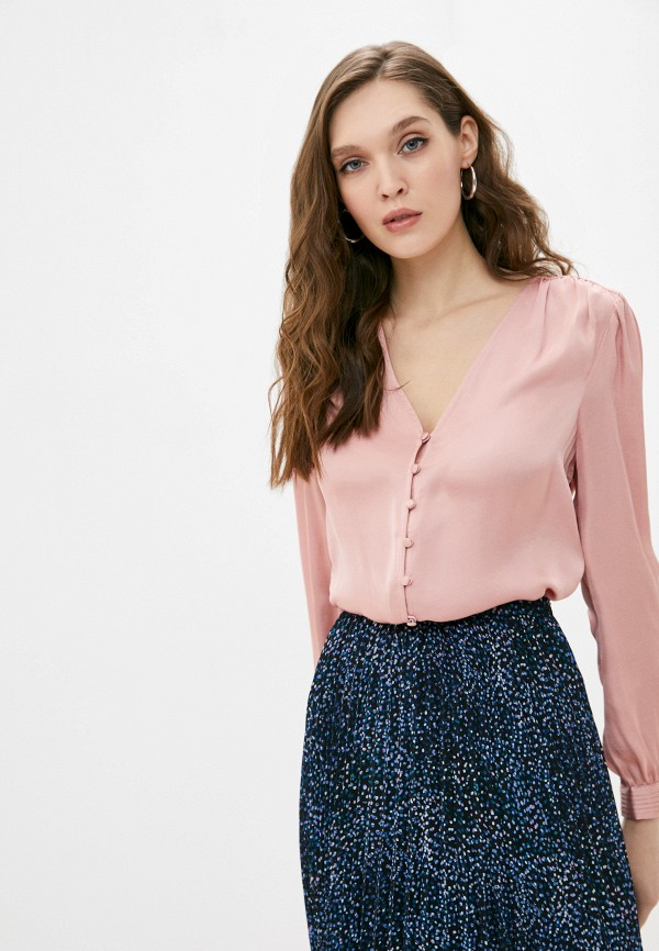 женская блузка banana republic, розовая