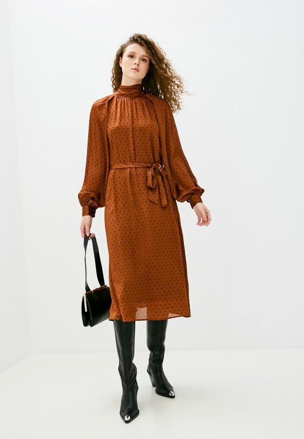 женское повседневные платье banana republic, коричневое