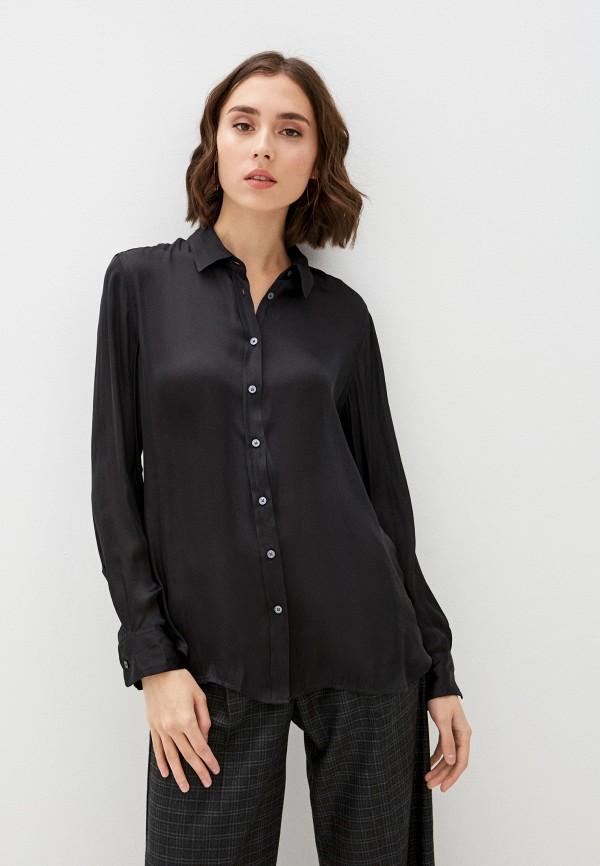 женская рубашка с длинным рукавом banana republic, черная