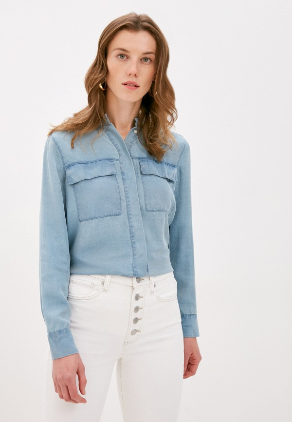 женская джинсовые рубашка banana republic, голубая