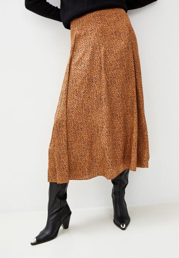 женская юбка banana republic, коричневая