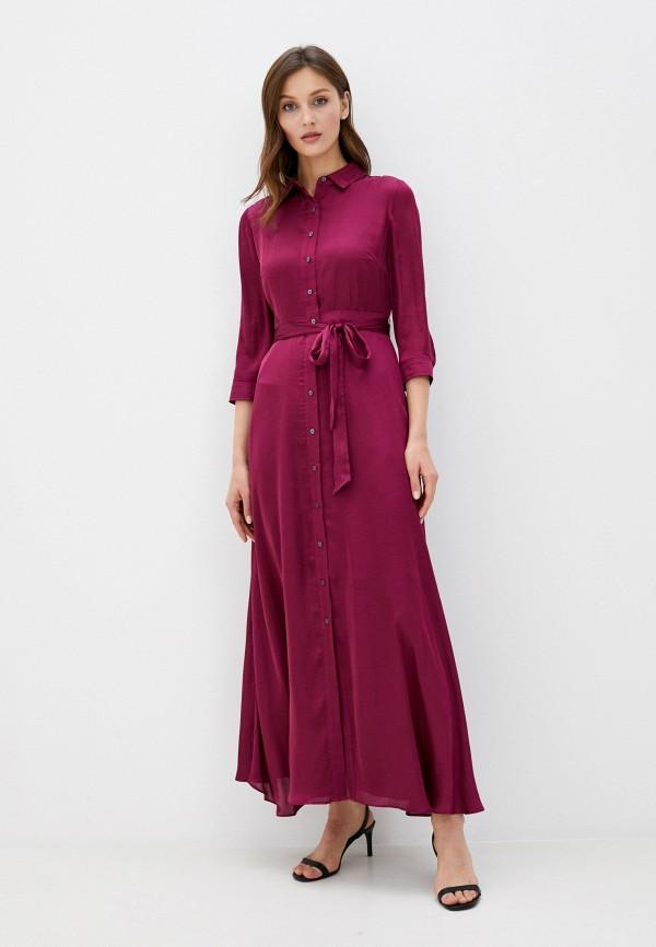 женское платье banana republic, бордовое