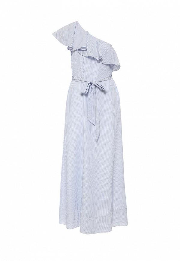 женское повседневные платье banana republic, голубое