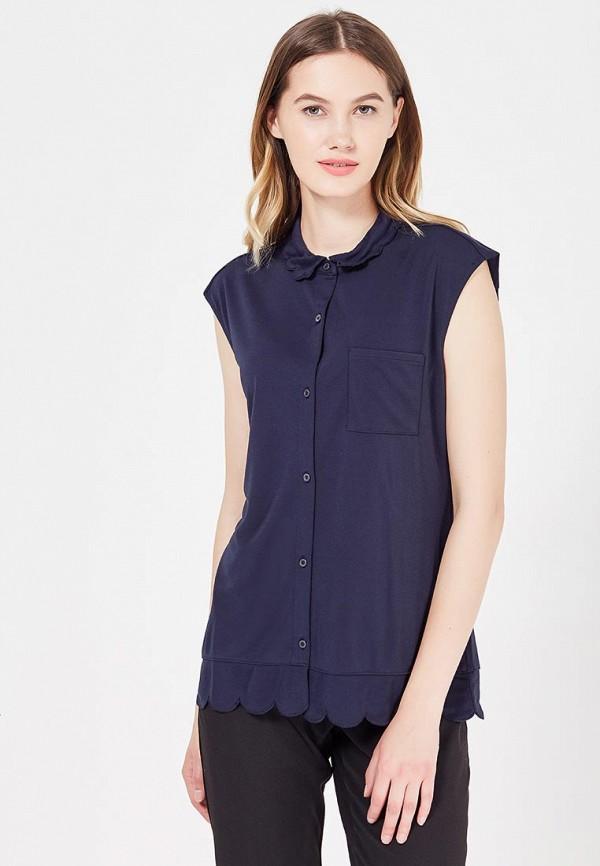 женская блузка banana republic, синяя