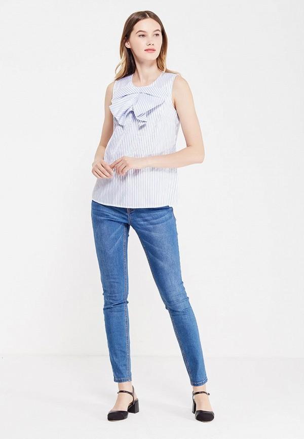 Фото 2 - женскую блузку Banana Republic голубого цвета