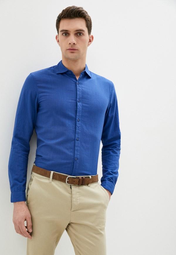 мужская рубашка с длинным рукавом baker's, синяя