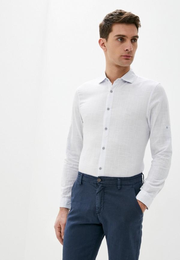 мужская рубашка с длинным рукавом baker's, белая