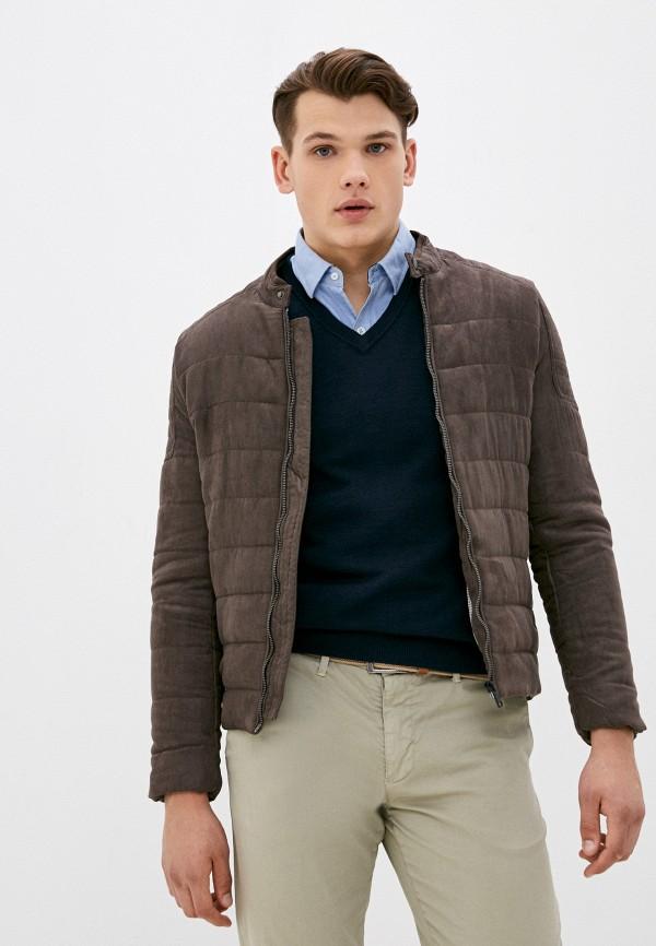 мужская куртка baker's, коричневая