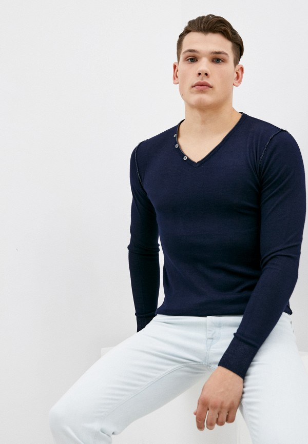 мужской пуловер baker's, синий
