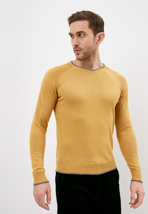 мужской пуловер baker's, желтый