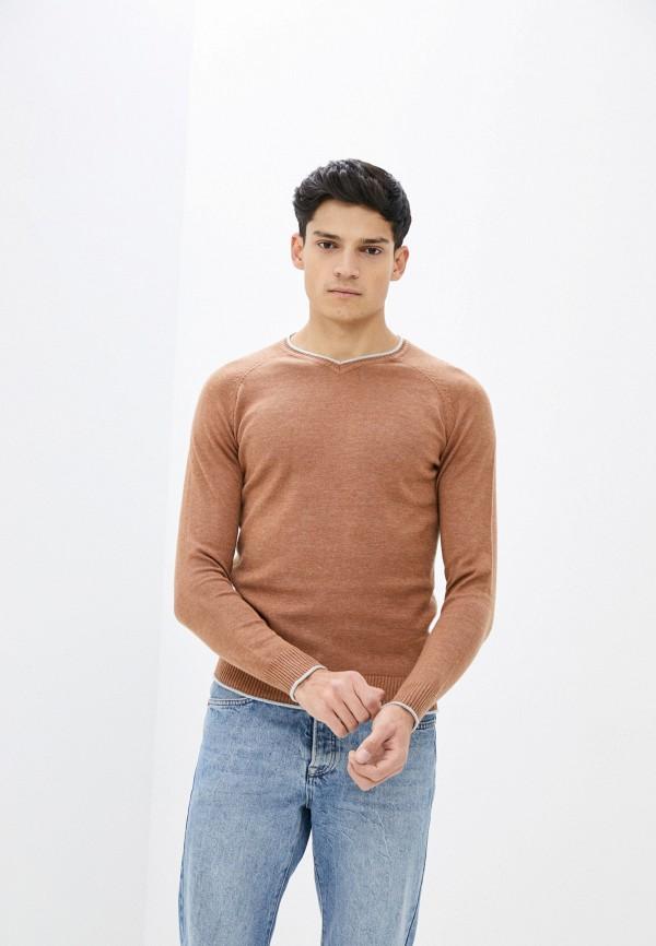 мужской пуловер baker's, коричневый