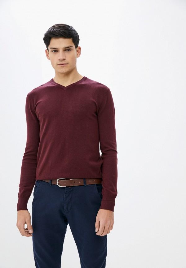 мужской пуловер baker's, бордовый