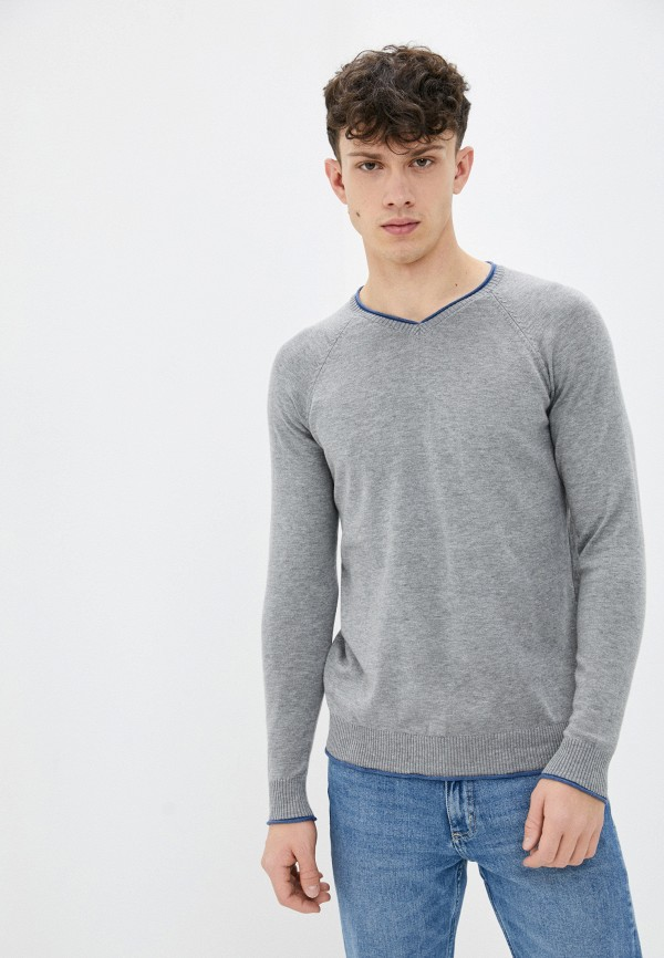 мужской пуловер baker's, серый