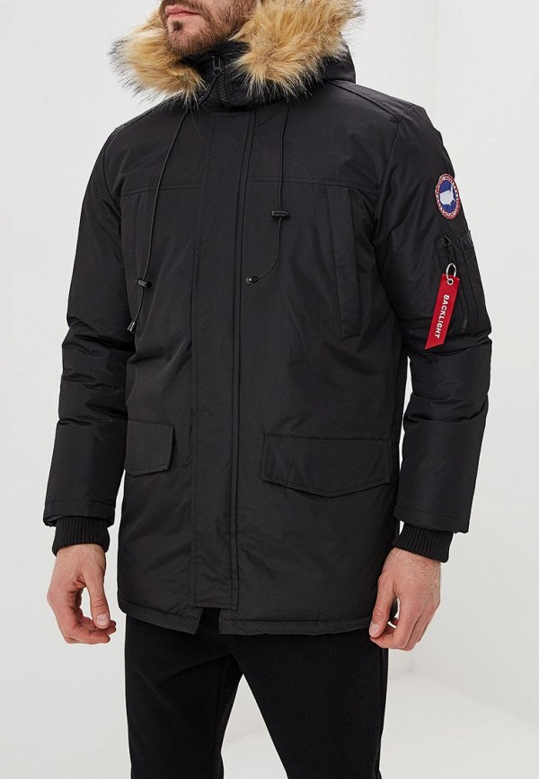 мужская куртка backlight, черная
