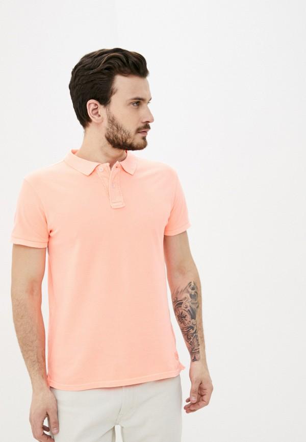 мужское поло backlight, розовое