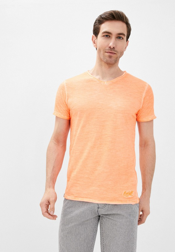 мужская футболка с коротким рукавом backlight, оранжевая
