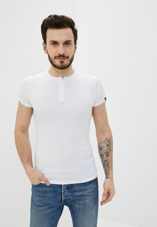 мужская футболка с коротким рукавом backlight, белая