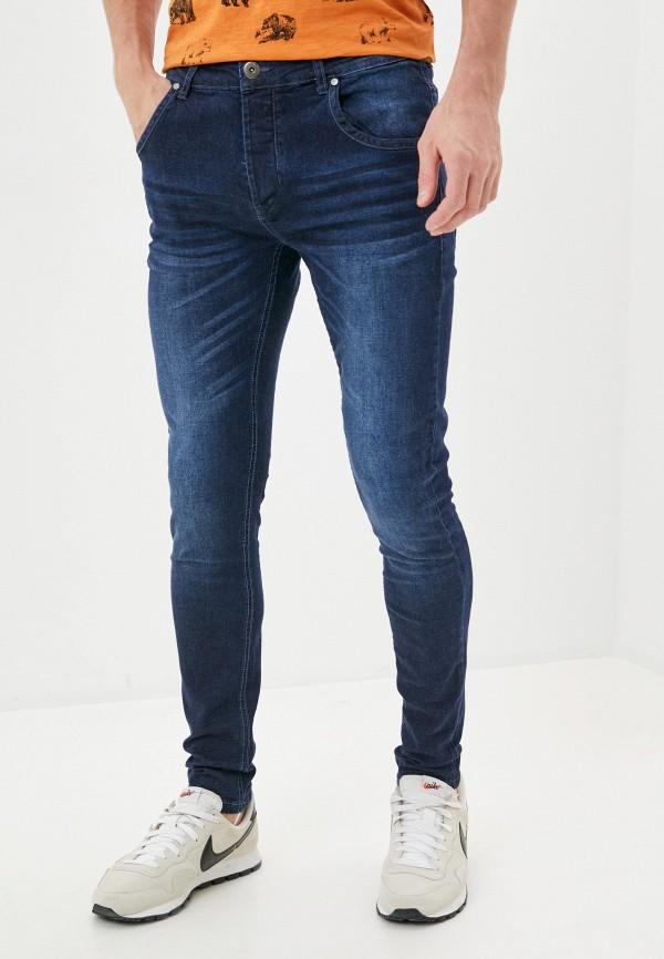 мужские зауженные джинсы backlight, синие